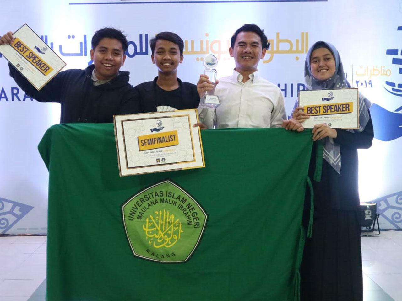 Juara Debat Bahasa Arab tingkat Internasional tahun 2019